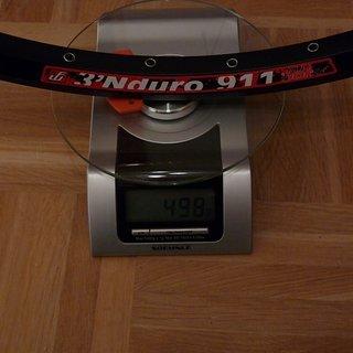 """Gewicht Fun Works Felge 3'Nduro 911 26"""" / 559x23 / 32 Loch"""