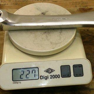 Gewicht Shimano Kurbel XT FC-M730 175mm, 4-kant