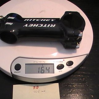 Gewicht Ritchey Vorbau Comp 31.8mm, 100mm, 6°