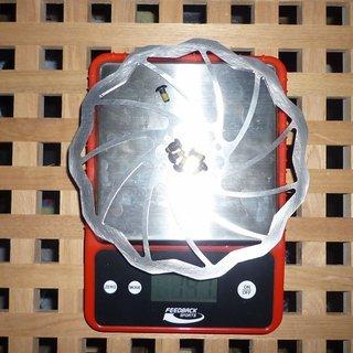 Gewicht Magura Bremsscheibe SL (ungelocht) 180mm