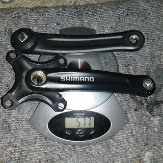 Gewicht Shimano Kurbel FC-M440 170mm, 4-kant