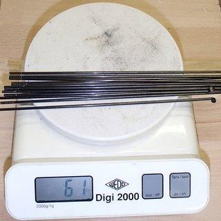 Gewicht Sapim Speiche Leader 170mm, 14 Stück