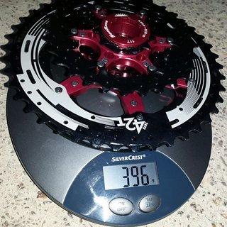 Gewicht Sunrace Kassette CSMX3 10-fach TAY 11-42
