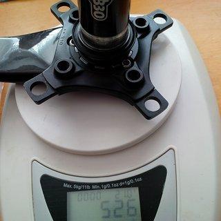 Gewicht SRAM Kurbel X0 175mm, 68/73mm, BB30