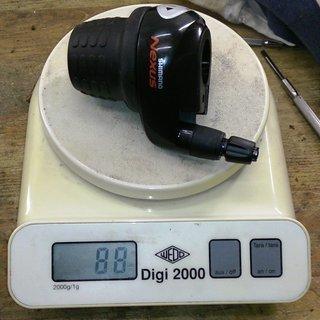 Gewicht Shimano Drehschaltgriff Nexus SL-8S30-A 8-fach
