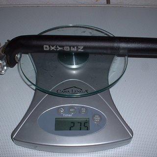 Gewicht Oxygen Sattelstütze Sattelstütze 27.2 x 290mm