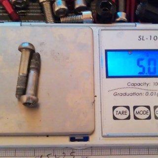 Gewicht Avid Schrauben, Muttern Linsenkopfschraube M5x25, Ti