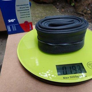 Gewicht Schwalbe Schlauch 13 SV 26