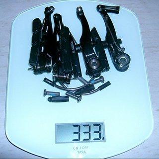 Gewicht Tektro Felgenbremse TRP M920 102mm