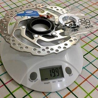 Gewicht Shimano Bremsscheibe SM-RT10S 160 mm