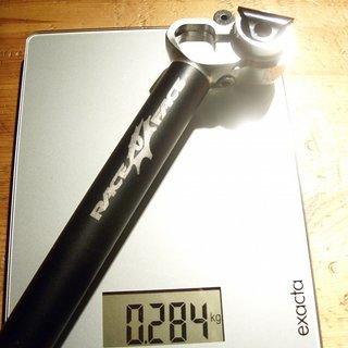 Gewicht Race Face Sattelstütze XY 26,8 x 350