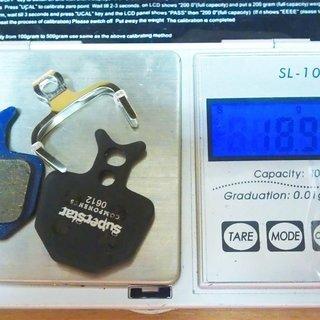 Gewicht Superstar Components Bremsbelag F2 - Organic Formula ORO