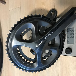 Gewicht Shimano Kurbelgarnitur Ultegra 6800 52/34 170mm