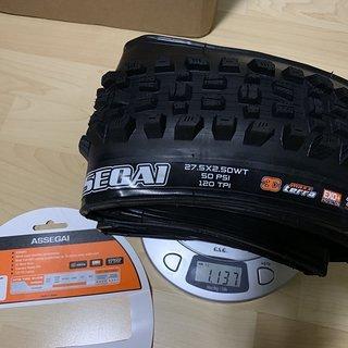 Gewicht Maxxis Reifen Assegai 3C MaxxTerra WT Exo+ 27.5 x 2.5