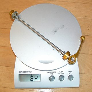 Gewicht Hope Schnellspanner Schnellspanner 135mm