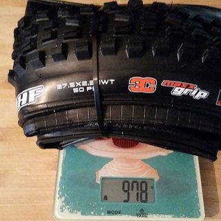 Gewicht Maxxis Reifen Minion DHF 2,5 WT 3C MaxxGrip 27,5