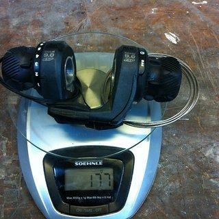 Gewicht SRAM Drehschaltgriff 9.0 ESP 3x8-fach