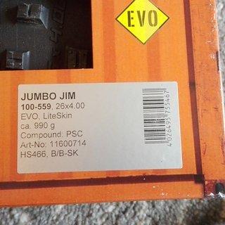 Gewicht Schwalbe Reifen Jumbo Jim 26 x 4.0