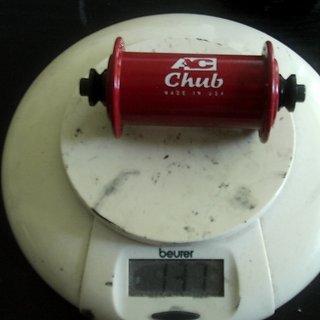Gewicht Adventure Components Nabe Chub 100mm/QR, 32-Loch