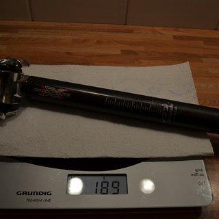 Gewicht Bontrager Sattelstütze Race X Lite 27.2 x 230mm