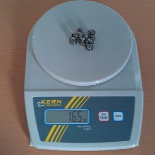Gewicht No-Name Kettenblattschrauben Alfine FC-S500 / FC-S501 M8x8,5mm