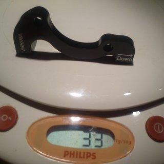 Gewicht Ashima Scheibenbremsadapter AU2-1 PM >>> IS +43