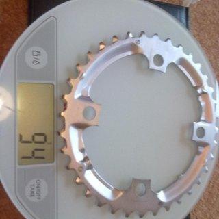 Gewicht Shimano Kettenblatt Deore FC-M510 104mm, 36Z