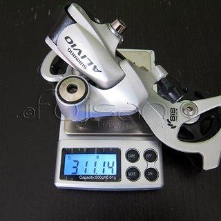 Gewicht Shimano Schaltwerk Alivio RD-M410-SGS Long Cage