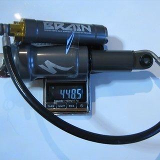 Gewicht Specialized Dämpfer Brain AFR (Stumpjumper Carbon Pro 2009)  122mm