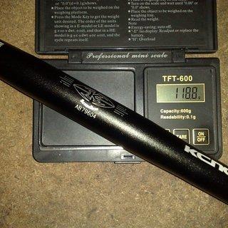 Gewicht KCNC Lenker SC Bone Flat 25,4 x 600mm