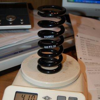 Gewicht Fox Racing Shox Feder 600 x 2.35 id 35mm