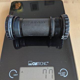 Gewicht SRAM Innenlager BSA DUB 83 83mm