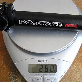 Gewicht Race Face Sattelstütze Ride XC 31,6 x 350