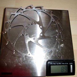 Gewicht Alligator Bremsscheibe Wind-Cutter 160mm
