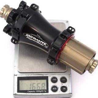 Gewicht Extralite Nabe HyperRear2 142mm/12, 28-Loch