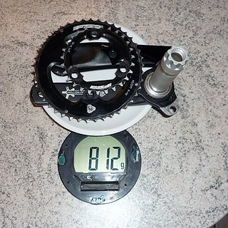 Gewicht FSA Kurbelgarnitur Afterburner 175mm, 27/42Z