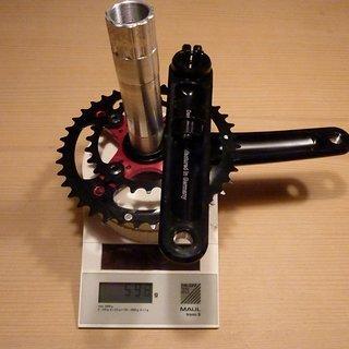 Gewicht BOR Kurbelgarnitur 666XC - 2X 175mm, 26/39Z