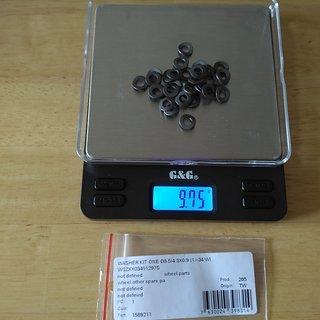 Gewicht DT Swiss Weiteres/Unsortiertes PHR Nippelunterlegscheiben 8.5/4.3x0.9mm, 34 Stk.