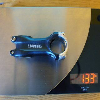 Gewicht Procraft Vorbau Ahead 31.8 II short 31.8mm, 70mm, 5°