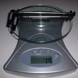 Gewicht Xtreme Schnellspanner WCR Stahl 100mm, 135mm