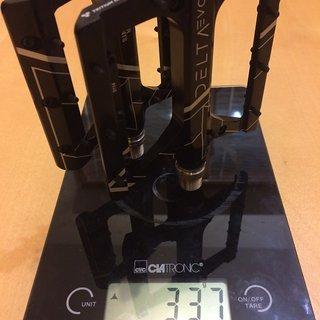 Gewicht Superstar Components Pedale (Platform) Delta Evo Pedal Titanium Axles 94*105*14