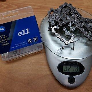 Gewicht KMC Chain Kette e11 EPT 122 Glieder 11-fach