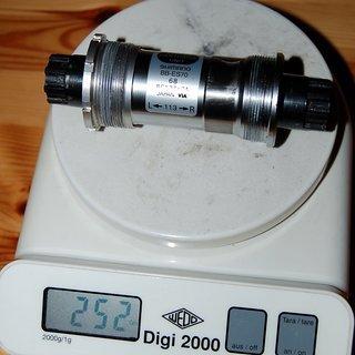 Gewicht Shimano Innenlager XT/LX BB-ES70 Octalink, 68/113mm, BSA