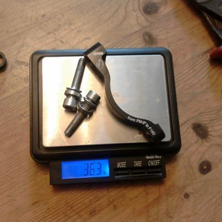 Gewicht Formula Scheibenbremsadapter Adapter PM >>> PM +20