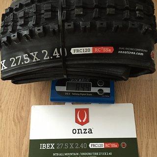 Gewicht Onza Reifen IBEX FRC120 RC²55a TLR 27.5''x2.4''