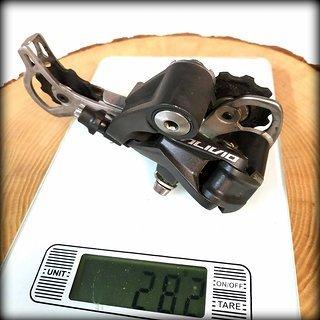Gewicht Shimano Schaltwerk Acera RD-M430 Long Cage