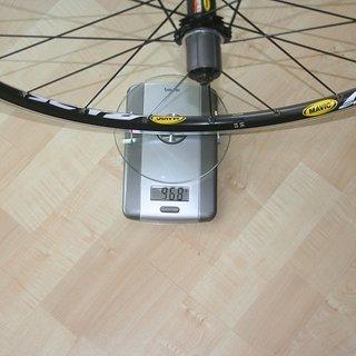 Gewicht Mavic Systemlaufräder Crossride UB HR, 135mm/QR