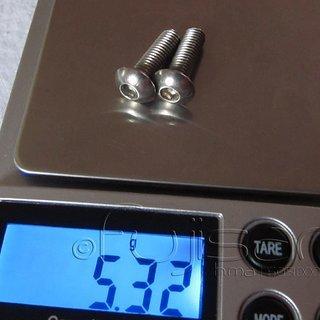 Gewicht No-Name Schrauben, Muttern Linsenkopfschraube M5x16, Stahl