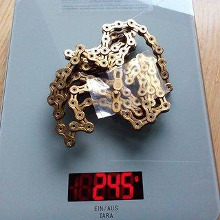 Gewicht KMC Chain Kette X10 SL 10-fach 5.88mm breit / 112 Glieder