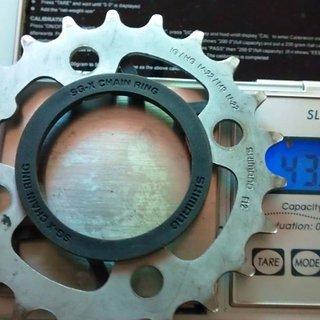 Gewicht Shimano Kettenblatt Deore FC-M510  64mm, 22Z
